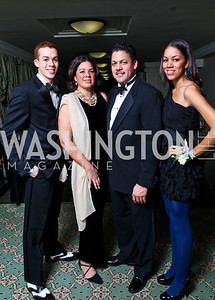 Clayton, Adrienne, Ron, and Giselle Childs. Tuxedo Ball. Photo by Tony Powell. December 30, 2010