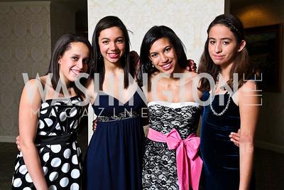 Grayce Niles, Alexandra Walker, Rebecca Marchant, Claire Funderburk. Tuxedo Ball. Photo by Tony Powell. December 30, 2010
