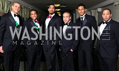 Matt Thompson, Bertram Lee, Brendan Galloway, Wynton Fox, Kyle Webster, Max Fox. Tuxedo Ball. Photo by Tony Powell. December 30, 2010