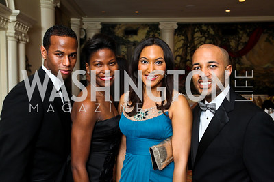 Sean Jamieson, Erin Hatton, Leigh Chapman, Shomari Wade. Tuxedo Ball. Photo by Tony Powell. December 30, 2010