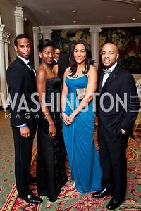 Sean Jamieson, Erin Hatton, Leigh Chapman, Shomari Wade. Tuxedo Ball. Photo by Tony Powell. December 30, 2010