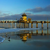 Huntington Beach Pier low tide sunrise