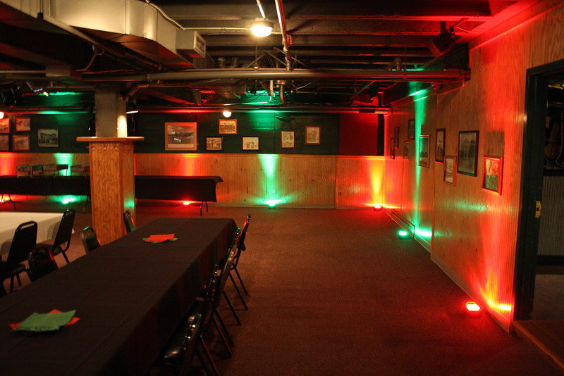 Sandford's downstairs uplighting - Christmas