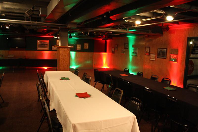 Sanford's - Downstairs (Christmas uplighting)
