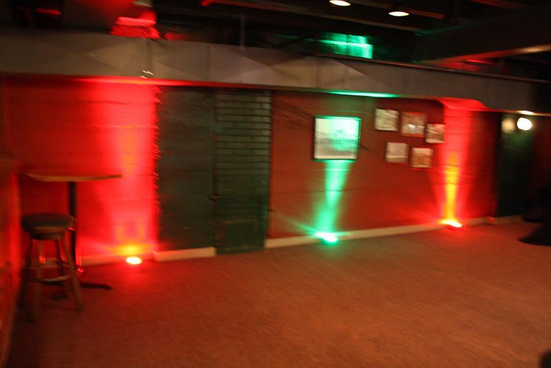 Sandford's  downstairs uplighting Christmas