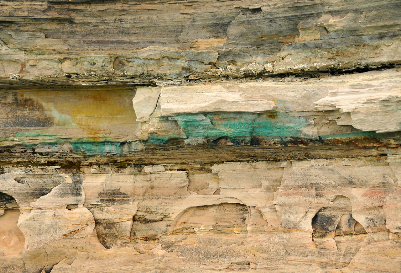 Copper Veins at Pictured Rocks National Lakeshore - August 2012