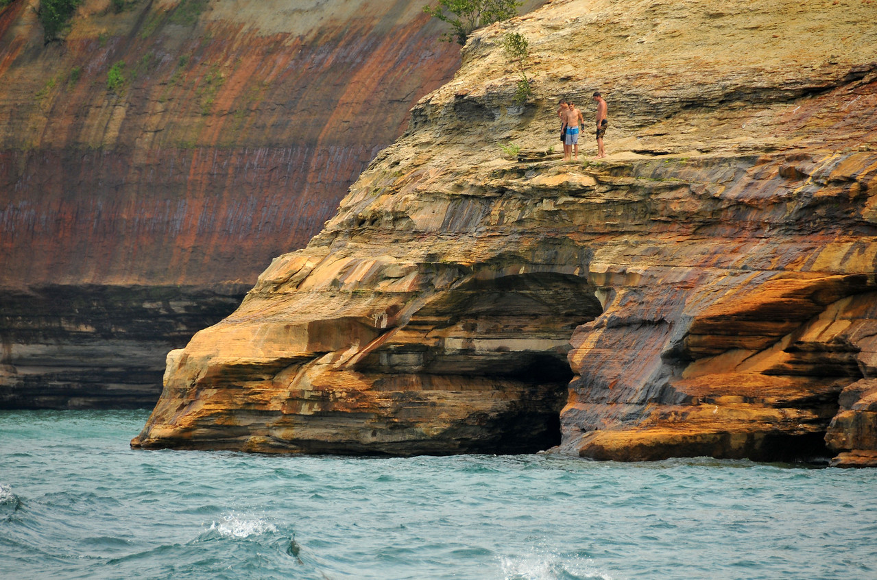 Comtemplating a dive at Pictured Rocks National Lakeshore - August 2012