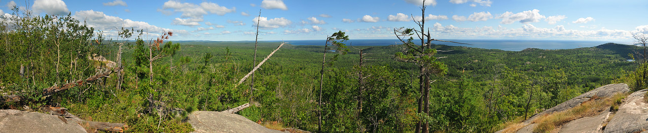 Panoramic View from Hogback Mountain - August 2012