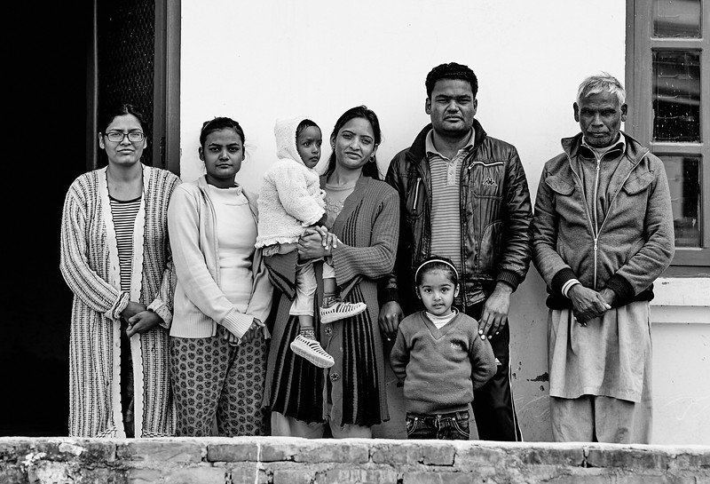 Aron and his family in Kathmandu