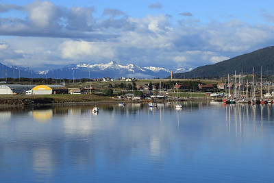 westerly view of old airport, Ushuaia