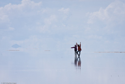 Dancing on the salt flats !