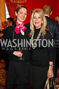 Katja Matthews, Paula Conover. VIP reception for Relais & Chateaux Hotels. Photo by Tony Powell. French Ambassador's residence. March 28, 2011