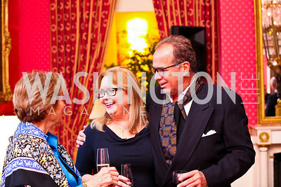 Judge Debra Carnahan, Ned Brown. VIP reception for Relais & Chateaux Hotels. Photo by Tony Powell. French Ambassador's residence. March 28, 2011