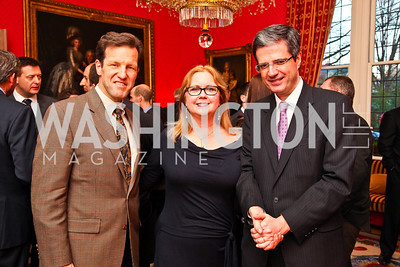 Rep. Russ Carnahan and Judge Debra Carnahan, French Ambassador François Delattre. VIP reception for Relais & Chateaux Hotels. Photo by Tony Powell. French Ambassador's residence. March 28, 2011