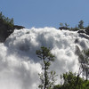 DSC01802 Very loud waterfall photographed while train stopped for passengers to take photos.  Lot of mist from falls and eventually on camera lens..need some sort of cover for camera to photograph falls like this up close like this one.  Other images show the falls from a distance - at Hotel were we were treated to refreshments..i.e. some sort of pancakes and tea.