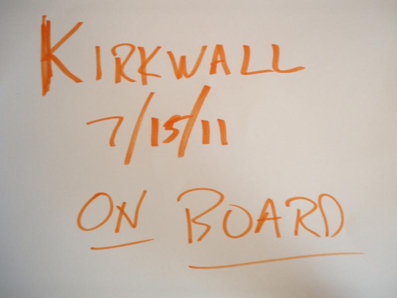 id KIRKWALL ON BOARD SHIP