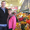 Erik and Amy at Pike Place Market - tulip season!