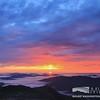 A colorful sunrise before the rain
