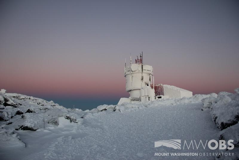 Alpine Glow behind our instrument tower