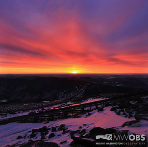 Sunrise the morning of February 18, 2014.