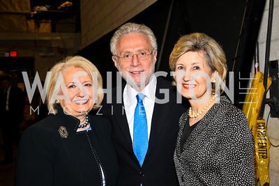 Amb. Melanne Verveer, Wolf Blitzer, Senator Kay Bailey Hutchison. 10th Annual Vital Voices Global Leadership Awards. Photo by Tony Powell. The Kennedy Center. April 12, 2011