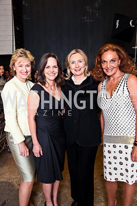 Tina Brown, Sally Field, Hillary Rodham Clinton, Diane von Furstenberg. 10th Annual Vital Voices Global Leadership Awards. Photo by Tony Powell. The Kennedy Center. April 12, 2011