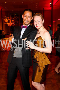 Ben Chang, Lauren McGaughy. 10th Annual Vital Voices Global Leadership Awards. Photo by Tony Powell. The Kennedy Center. April 12, 2011