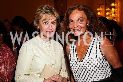 Tina Brown, Diane von Furstenberg. 10th Annual Vital Voices Global Leadership Awards. Photo by Tony Powell. The Kennedy Center. April 12, 2011
