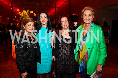 Annie Totah, 2011 Honorees Noha Khatieb and Liron Peleg-Hadomi, Susan Magee. 10th Annual Vital Voices Global Leadership Awards. Photo by Tony Powell. The Kennedy Center. April 12, 2011