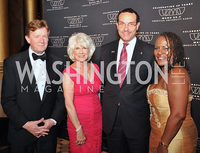 Neil Kerwin, Diane Rehm, Mayor Gray, Karyn Mathes WAMU NPR 50th Anniversary Gala at Building Museum