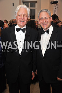 Mr. Close and Gary Knell WAMU NPR 50th Anniversary Gala at Building Museum