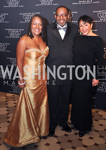 Caryn, Mathes, Kojo, Nnamdi, Sheila, Johnson, WAMU NPR 50th Anniversary Gala at Building Museum