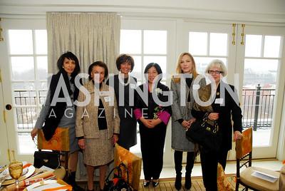 Rohini Talalla,Lucky Roosevelt,Capricia Marshall,Naiqing Chen,Susan Lehrnman,NataliaKislyak,February 1,2011,WNO Luncheon,Kyle Samperton