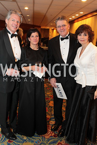 Allen Westergard, Sylvia Westergard, Hilary Fordrich, Charlee Givans. Washington Performing Arts Society Annual Gala and Auction at Marriott Wardman Park Hotel. Photo by Alfredo Flores. April 2, 2011
