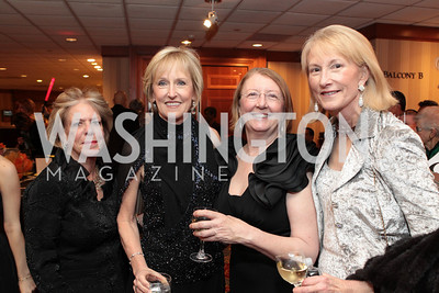 Mary Bind, Susan Cowart, Marcia MacArthur, Lola Reinsch. Washington Performing Arts Society Annual Gala and Auction at Marriott Wardman Park Hotel. Photo by Alfredo Flores. April 2, 2011