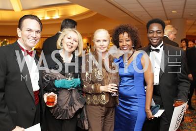 Anthony DiResra, Gilan Corn, Judy EsFandiary, Gina Adams, Terrance Mason. Washington Performing Arts Society Annual Gala and Auction at Marriott Wardman Park Hotel. Photo by Alfredo Flores. April 2, 2011