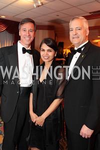 Arnie Sorenson, Yogini Patel, Stuart Wallace. Washington Performing Arts Society Annual Gala and Auction at Marriott Wardman Park Hotel. Photo by Alfredo Flores. April 2, 2011