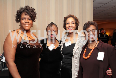 Yolanda Peterson Jones, Denise Bryant, Laurenda Carter, Margo Hall. Washington Performing Arts Society Annual Gala and Auction at Marriott Wardman Park Hotel. Photo by Alfredo Flores. April 2, 2011