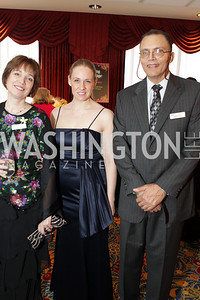 Laurie Lemley, Carolyn Burke, Michael Syphax. Washington Performing Arts Society Annual Gala and Auction at Marriott Wardman Park Hotel. Photo by Alfredo Flores. April 2, 2011