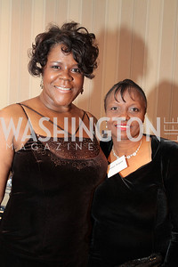 Yolanda Peterson Jones, Denise Bryant. Washington Performing Arts Society Annual Gala and Auction at Marriott Wardman Park Hotel. Photo by Alfredo Flores. April 2, 2011