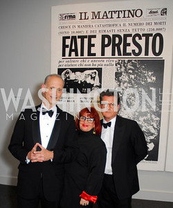 John Waters, Pat Moran.Vincent Fremont,Reception for Warhol at The National Gallery, October 5,2011,Kyle Samperton
