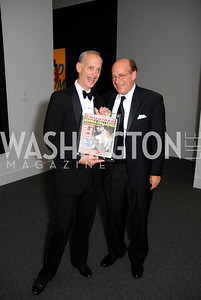 John Waters, Barry Levine,Reception for Warhol at The National Gallery, October 5,2011,Kyle Samperton