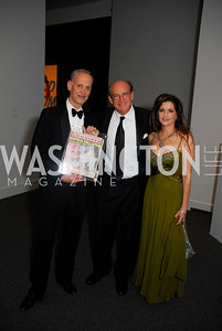 John Waters, Barry Levine,,Maria Elena Tierno,Reception for Warhol at The National Gallery, October 5,2011,Kyle Samperton