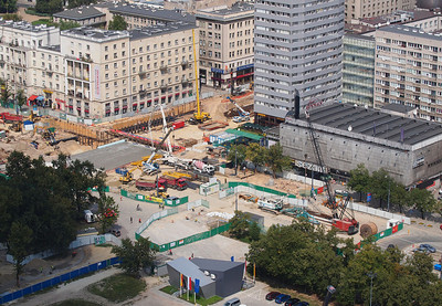 Warsaw from above. Photo: Martin Bager.