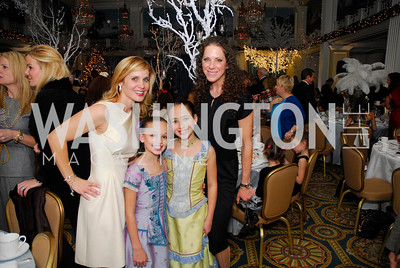 Stacey Lubar,Sydnee Lubar,Meredith Cymerman,Ariella Cymerman,Washington Ballet's Nutcracker Tea ,December 11,2011,Kyle Samperton