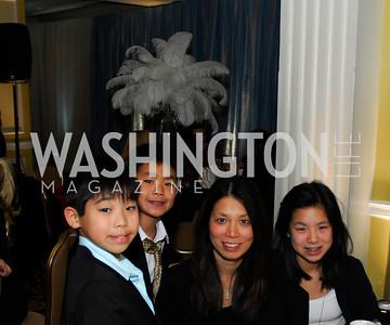Damon Hsu,Dylan Hsu,Amber Hsu,Whitney Hsu,Washington Ballet's Nutcracker Tea ,December 11,2011,Kyle Samperton
