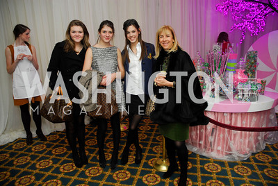 Caroline Allen,Lara Barth,Lizzie Bubes.Nancy Taylor Bubes,Washington Ballet's Nutcracker Tea ,December 11,2011,Kyle Samperton