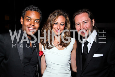 John Burns, Erika Gutierrez, Rodrigo Garcia. Photo by Tony Powell. WL WHC After Party. Grey Goose Mansion. April 30, 2011