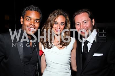 John Burns, Erika Gutierrez, Rodrigo Garcia. Photo by Tony Powell. WL WHC After Party. Grey Goose Mansion. April 30, 2011