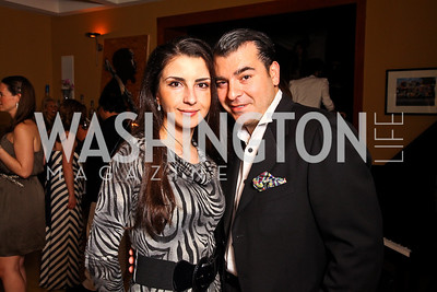 Rayna and Dino Lonzano. Photo by Tony Powell. WL WHC After Party. Grey Goose Mansion. April 30, 2011